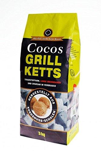 Cocos Grillbriketts 6kg Premium Holzkohle