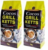 Cocos Grillbriketts Premium Holzkohle Grillkohle aus Kokosnuss - ökologisch - 1