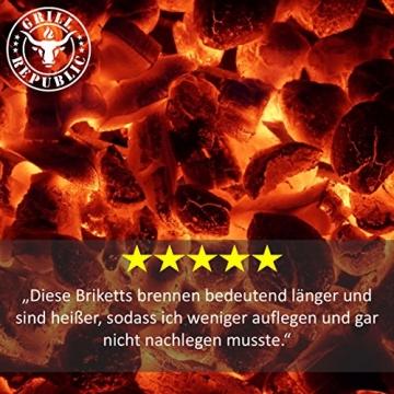 Grill Republic Kokos Briketts Grillbriketts Kokoskohlen für Den Kugel- und Standgrill | Nachhaltig, Hoher Heizwert und 3X Längere Brenndauer | 8,5kg … - 4