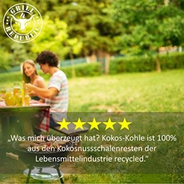 Grill Republic Kokos Briketts Grillbriketts Kokoskohlen für Den Kugel- und Standgrill | Nachhaltig, Hoher Heizwert und 3X Längere Brenndauer | 8,5kg … - 5